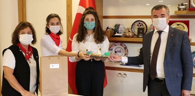 Havza Kadın Üretim Kooperatifinden Başkan Özdemir'e ziyaret