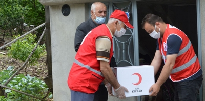 Havza Kızılay'dan Gazilere Ramazan Yardımı