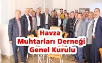 Havza Muhtarları Derneği genel kurulu gerçekleştirildi