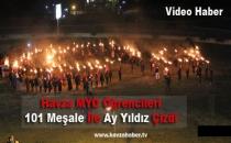 Havza MYO Öğrencileri 101 Meşale ile Ay-Yıldız Yaptılar- Video Haber