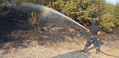 Havza'da 2 Ayrı Noktada Yangın Olayı Yaşandı