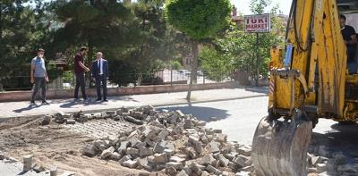 Havza'da 2 Bin Metre Yol Çalışmalarına Başlandı