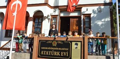 Havza'da Atatürk Evi'ne Yoğun İlgi