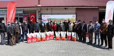 Havza'da Çiftçilere Yağlık Ayçiçeği Tohumu Dağıtıldı
