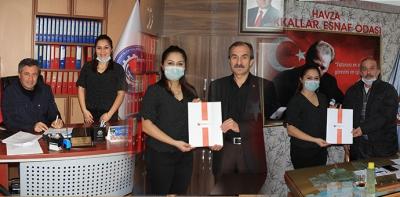 Havza'da Esnaf Odaları Sağlık Protokolü İmzaladı