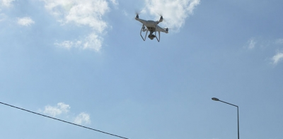 Havza'da Jandarmadan Dronlu Trafik Denetim