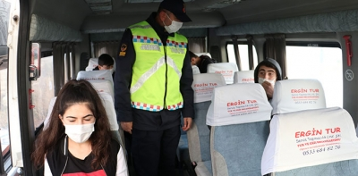 Havza'da Jandarmadan Okul Servislerine Kovit – 19 Denetimi