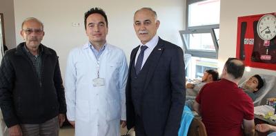 Havza'da KYK Öğrenci Yurdundan kan bağışı