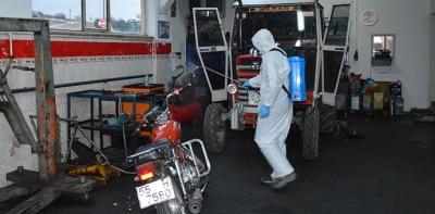 Havza'da Sanayi Siteleri Dezenfekte Edildi