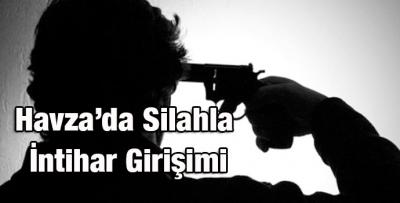 Havza'da Silahla İntihar Girişimi