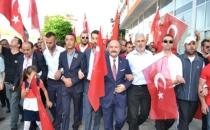 Havza'da, Terörü Protesto İçin Yürüdüler