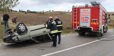 Havza'da Trafik Kazası 1 Ağır Yaralı