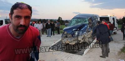 Havza'da Trafik Kazası 1 Ölü 10 Yaralı