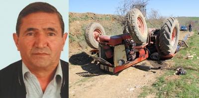 Havza'da Traktör Devrildi 1 Ölü