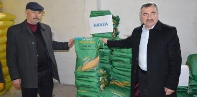 Havza'da Üreticilere Silajlık Mısır Tohumu Dağıtıldı