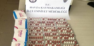 Havza'da Uyuşturucu Hapla Yakalanan Şahıs Gözaltına Alındı