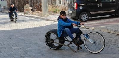 Havzalı Genç Mucitler Kendi Bisikletlerini Yaptılar