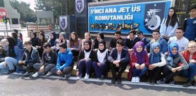Havzalı Öğrenciler Merzifon 5.Ana Jet Üs Komutanlığında