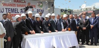 Havza'nın Kaderini Değiştirecek OSB'de Toplu Temel Atma Töreni Yapıldı