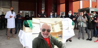 Hayatını Kaybeden Hastane Çalışanı İçin Tören Düzenledi