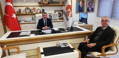 İlçe Müftüsü Nurlu'dan Başkan Özdemir'e İade-i Ziyaret