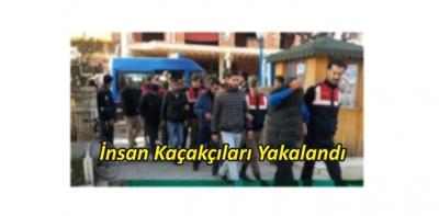 İnsan Kaçakçıları Havza'da Yakalandı