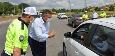 Kaymakam Kurnaz Trafik Ekiplerini Denetledi