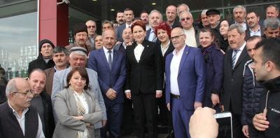 Meral Akşener Havza'da Adaylarla Buluştu