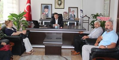 MHP Havza İlçe Başkanlığından Kaymak Yılmaz'a Ziyaret