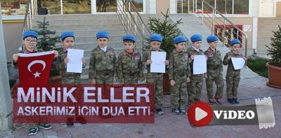Minik Eller Askerimiz İçin Dua Etti- Video Haber
