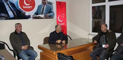 Saadet Partisi Havza İlçe Yönetimi Toplandı