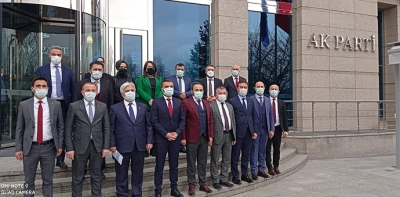 Samsun Heyetinden AK Parti Genel Merkezine Ziyaret