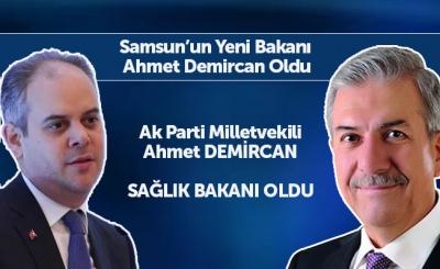 Samsun'da Bakan Değişikliği