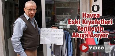Samsun'da Eski Kıyafetleri Yenileyip Akıya Asıyor