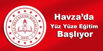 Samsun'un Havza İlçesinde Okullar Açılıyor