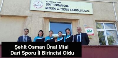 Şehit Osman Ünal Mtal Dart Sporu İl Birincisi Oldu