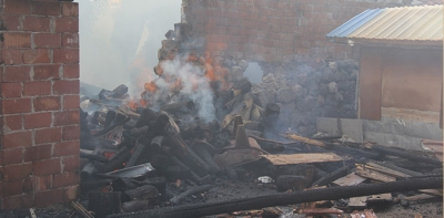Sivrikese Mahallesinde Korkutan Yangın