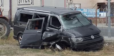 Trafik Kazası 12 Yaralı