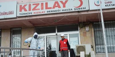 Türk Kızılayı Havza Temsilciliği Dezenfekte Edildi