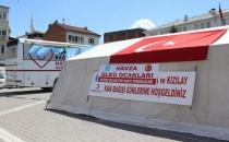 Ülkü Ocakları Aracılığı ile Kızılay Mehmetçik Meydanında Kan Bağışı Kampanyası