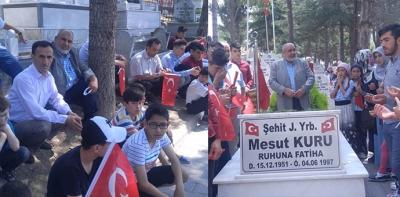 Yaz Kuran Kursu Öğrencileri Şehitliği Ziyaret Etti