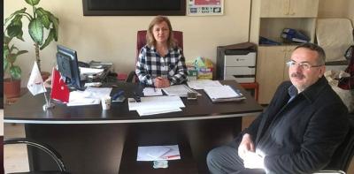 Yeni Atanan İlçe Seçim Müdürünü Ziyaret